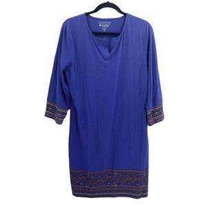 Coolibar Long Sleeve Sheath Dress Pullover SPF